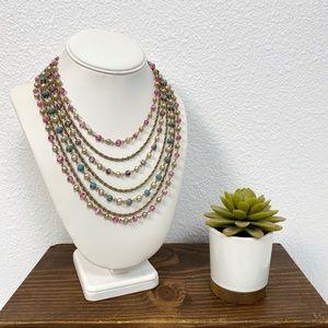 🪐3/$15 Vintage Tiered Bib Statement Necklace